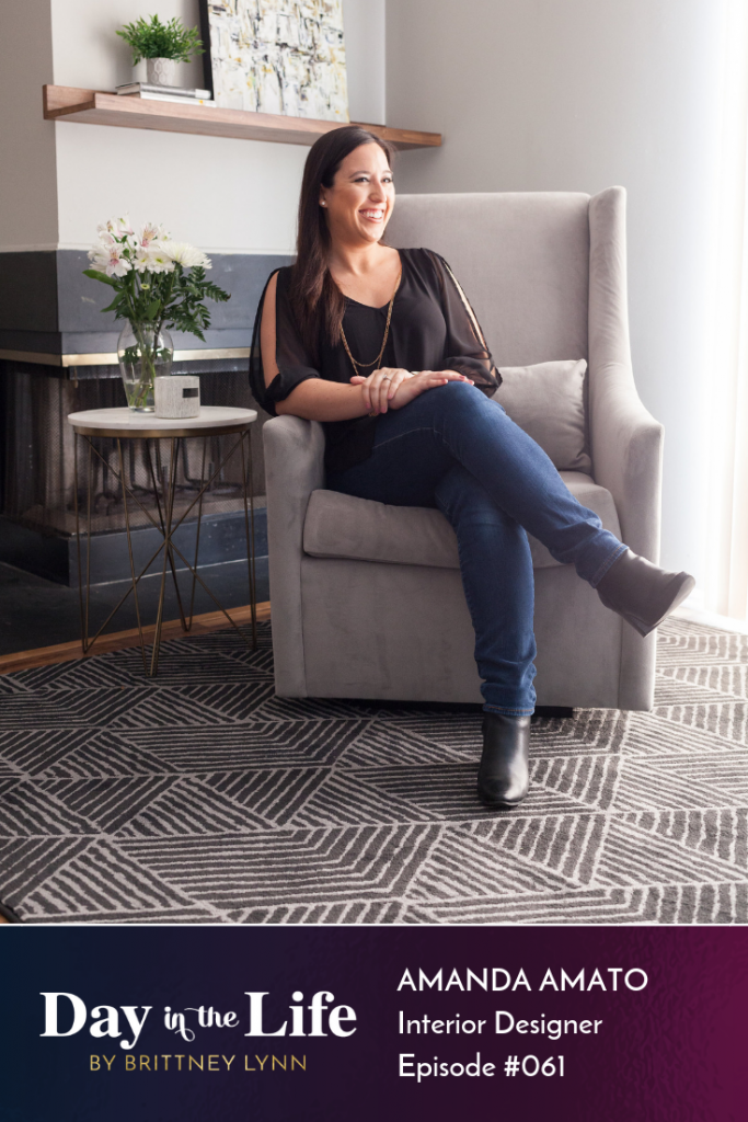 Day in the Life of Interior Designer Amanda Amato: Ever wonder what a day in the life is like for an Interior Designer? Check out this episode of the Day in the Life podcast with Amanda Amato to find out! #interiordesign #decorating #home